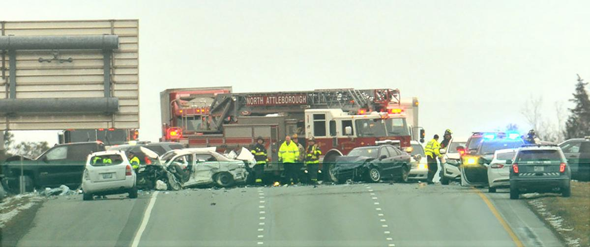 Eight-car accident on I-95 in North Attleboro injures several, two