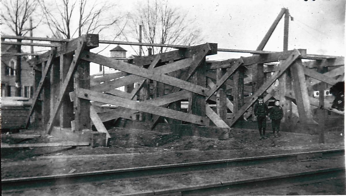 Railroad trestle construction