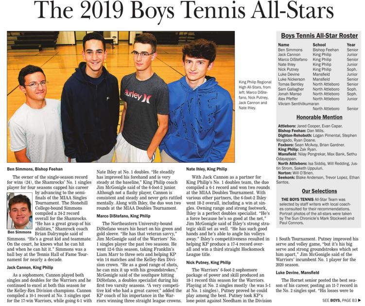 The Sun Chronicle 2019 Boys Tennis All-Stars 1 | | thesunchronicle com
