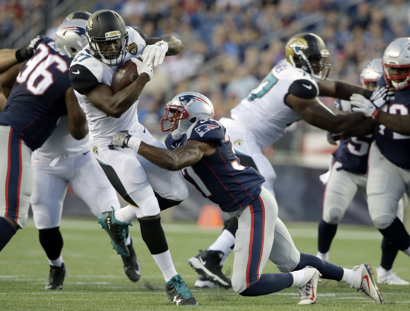 Wide receiver Brandin Cooks dominates Patriots scrimmage with Jaguars