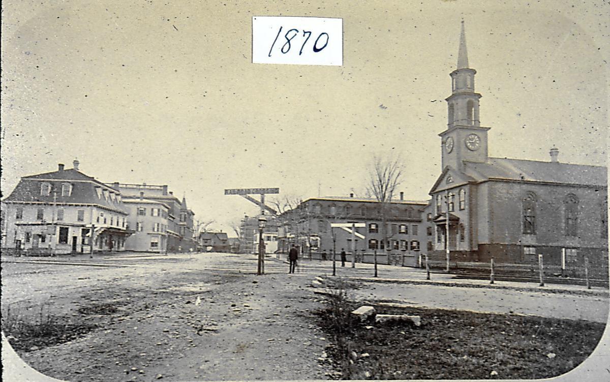 1870 railroad crossing on Park Street, Attleboro