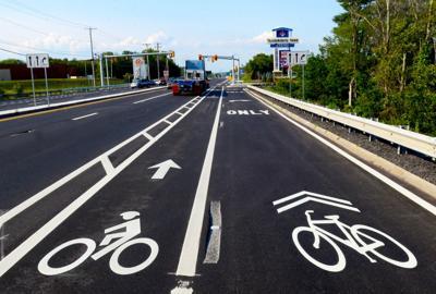 Plainville Route 1 bicycle lane