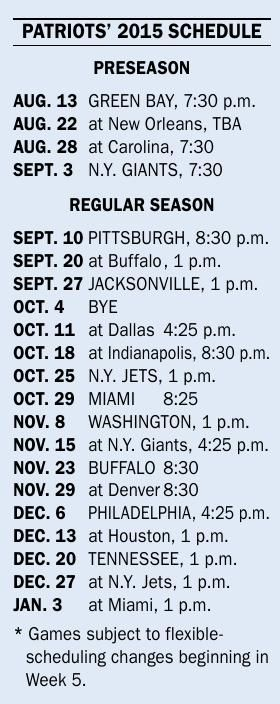 patriots 2015 schedule