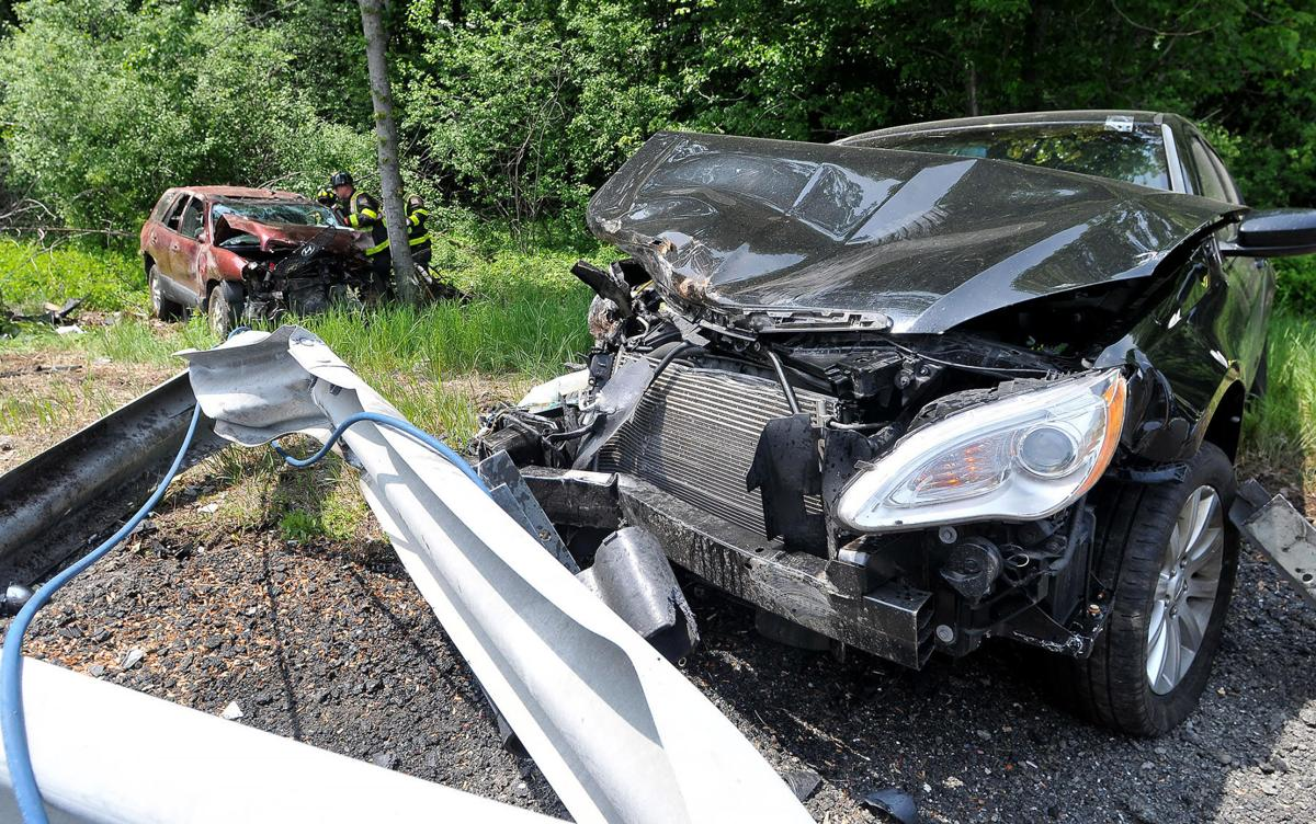 Three injured in two-car crash on I-95 south in North Attleboro
