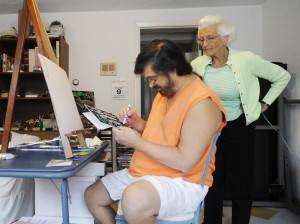Art colors Down syndrome man's life