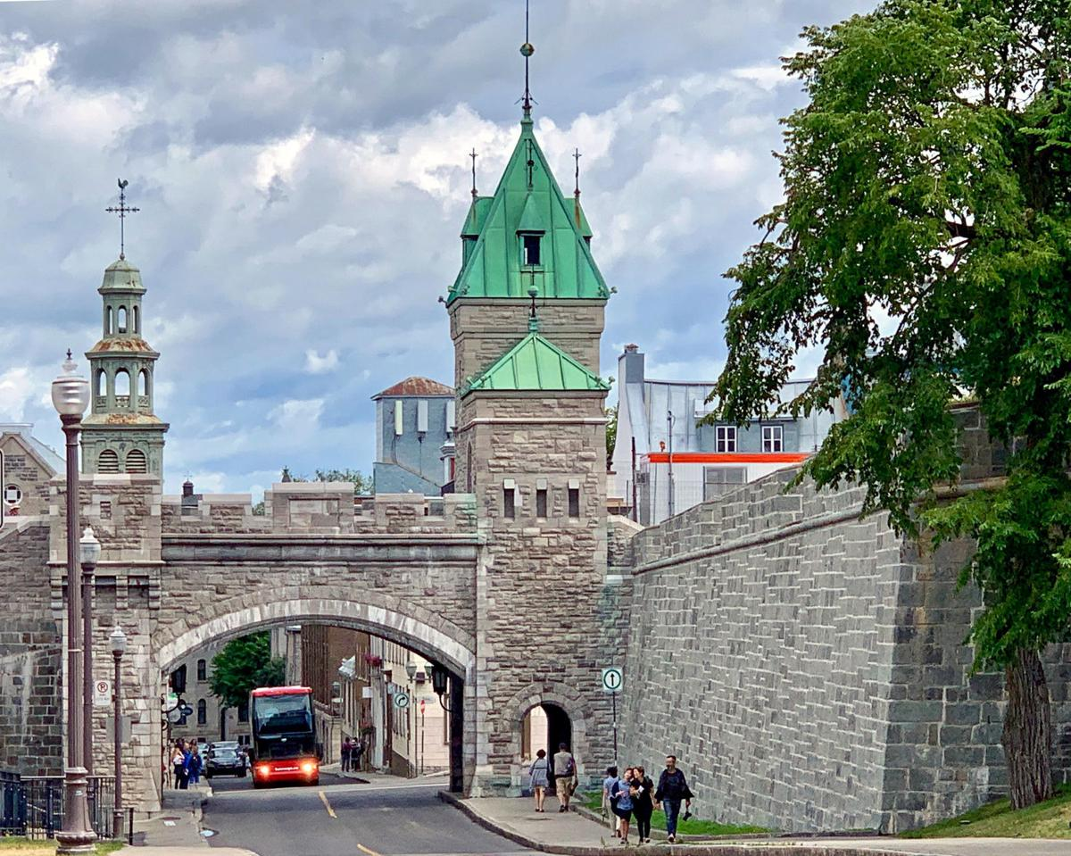 Quebec City wall and gate
