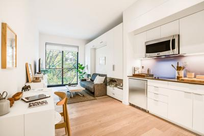 This Undated Photo Provided By Quinn Shows The Inside Of An Home In Micro Apartment Building Carmel Place New York Monadnock Development Via Ap