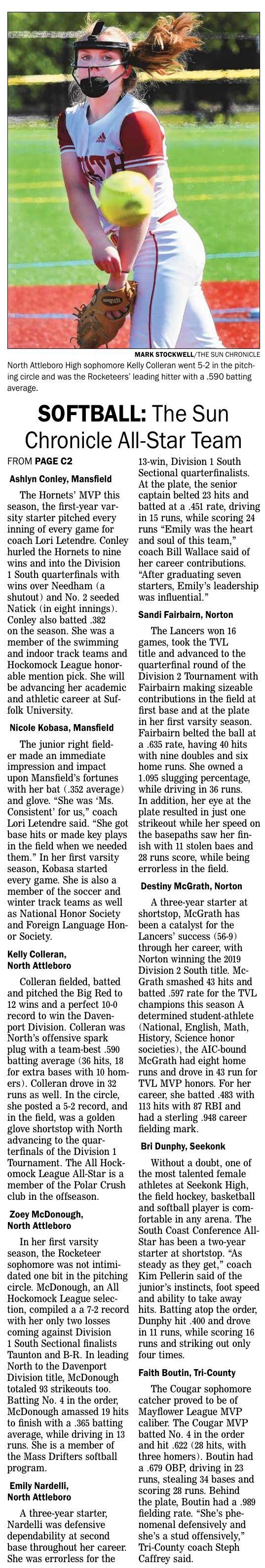 The Sun Chronicle 2021 Softball All-Star Team Page 2