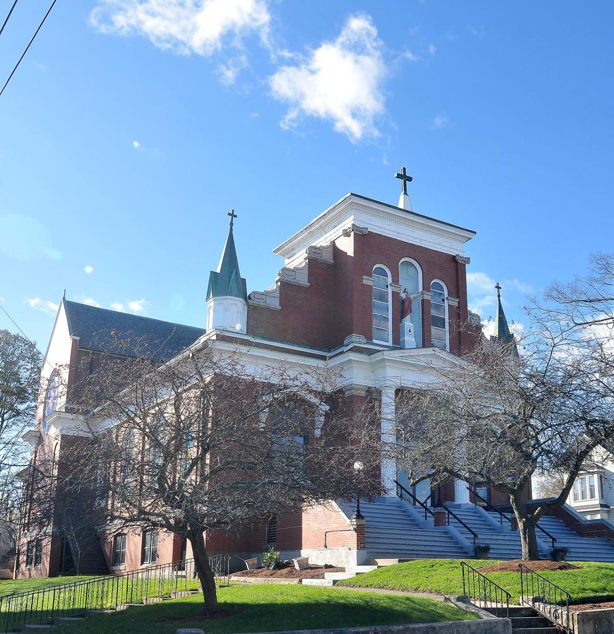 Then and Now Sacred Heart Church