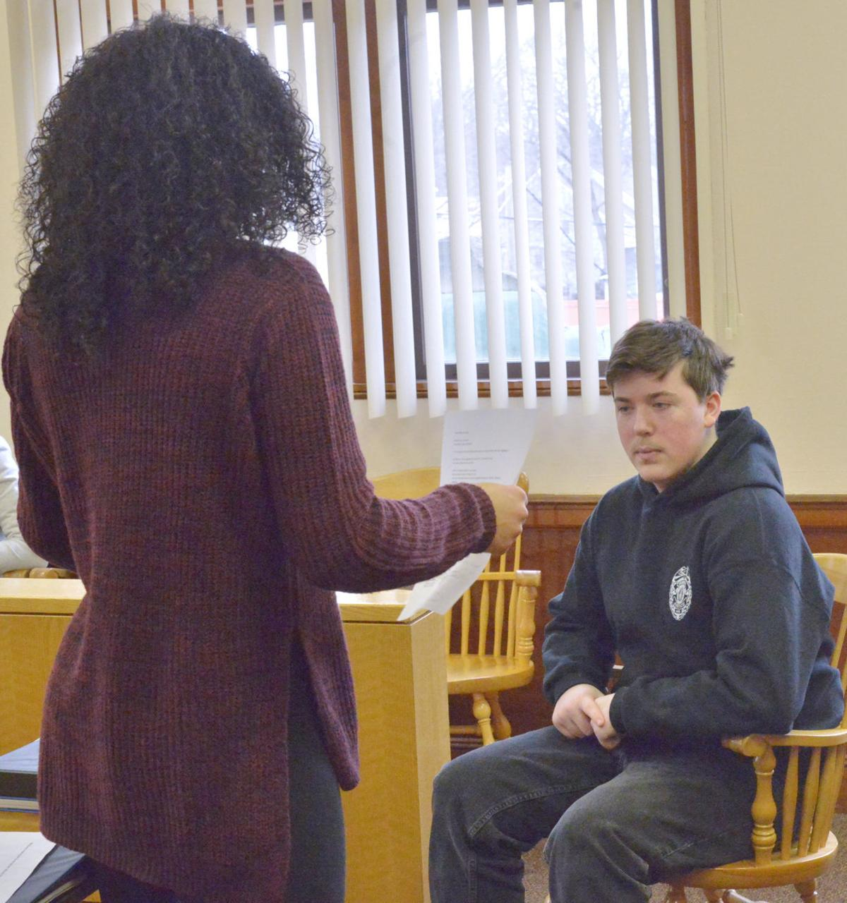 attleboro high students hold mock trial after arresting a  ahs mock trial 2 6 18