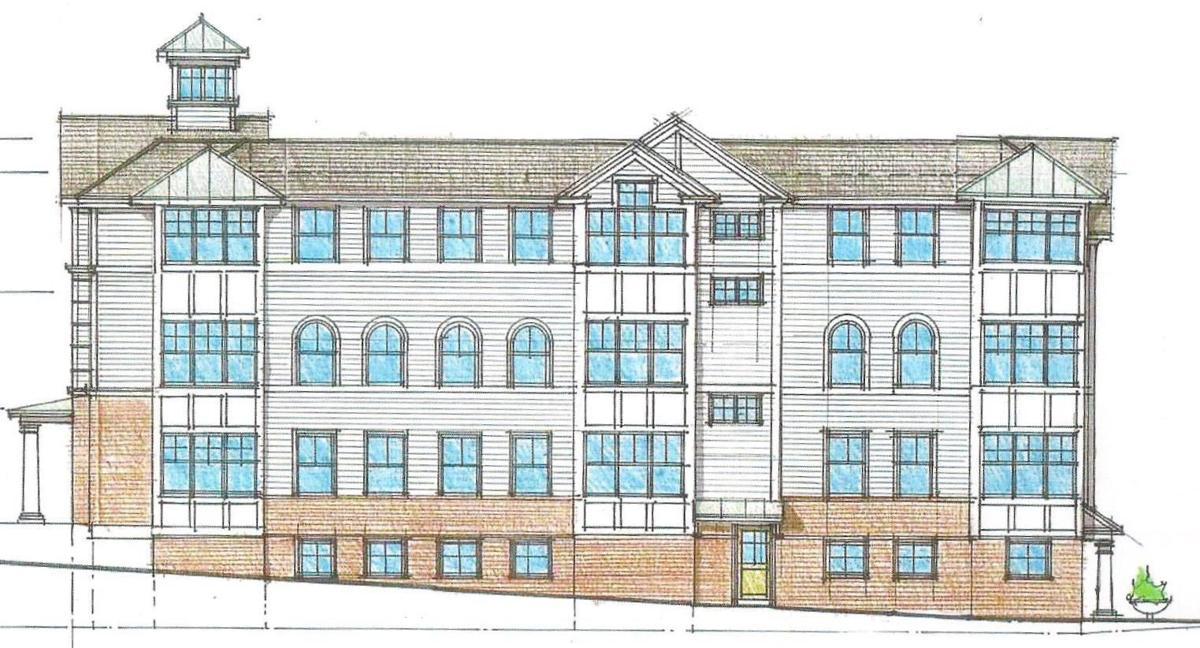 Exterior-Rockhill Street profile foxboro fire station. 001