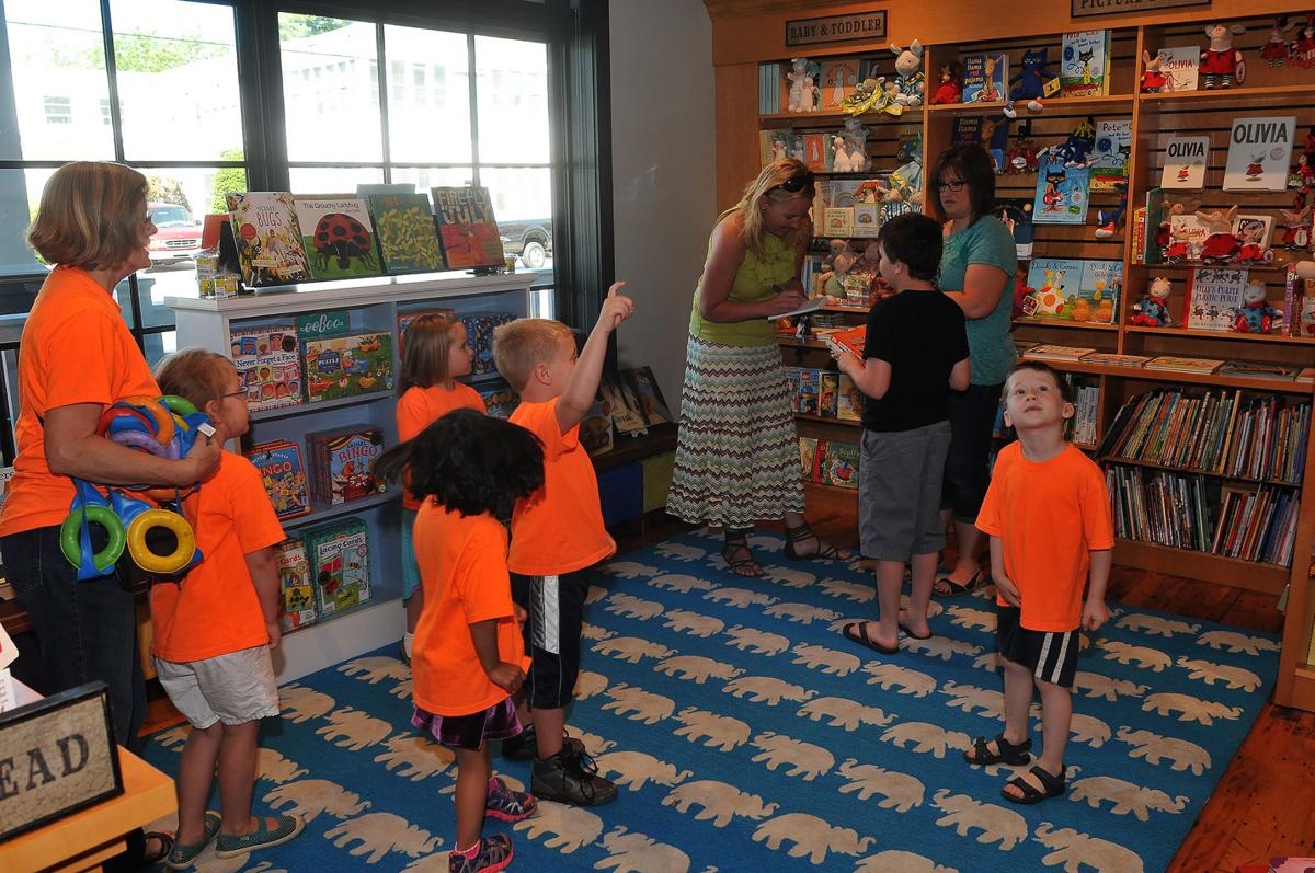 kids at bookstore opening