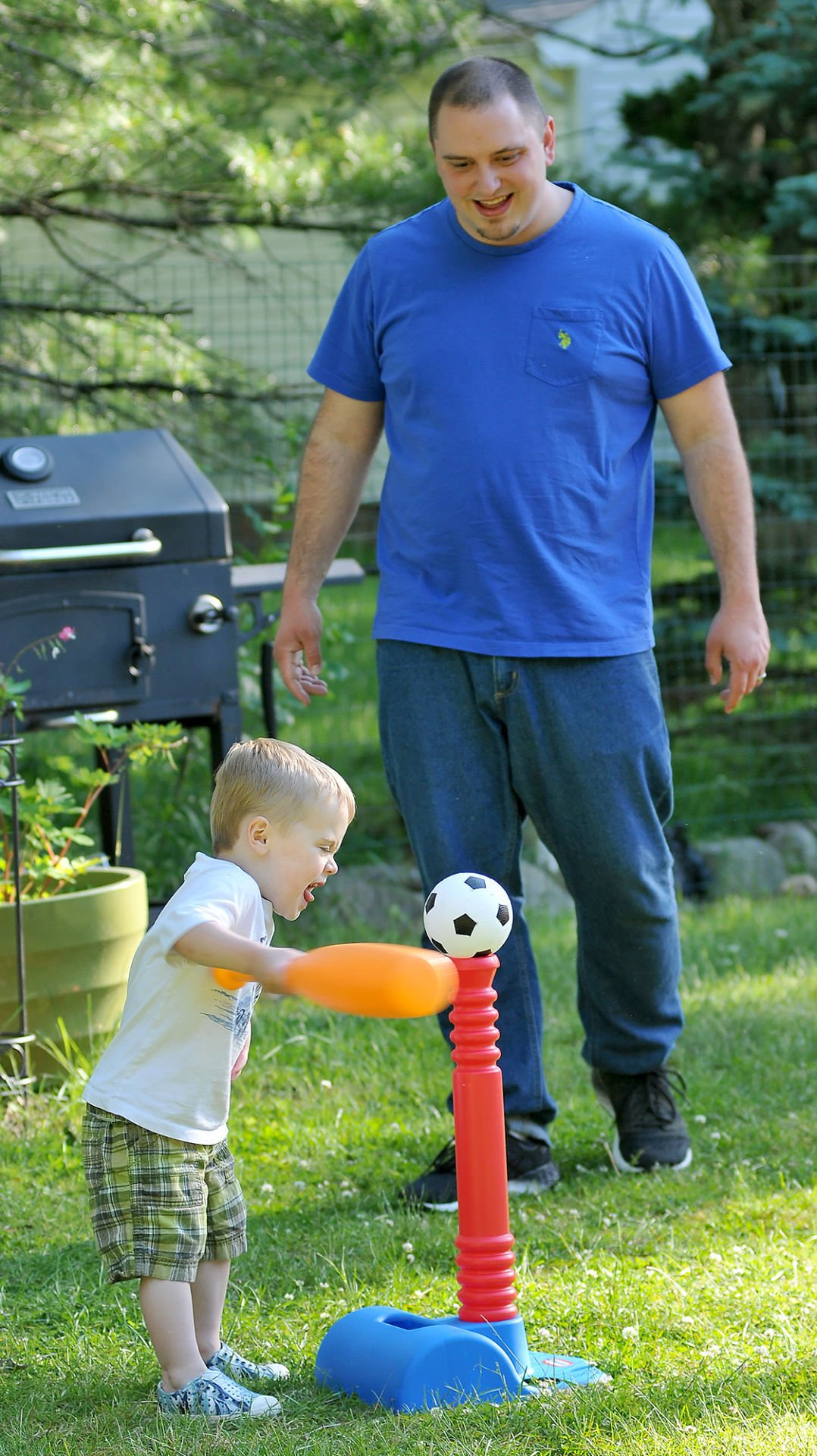 For the boys: In today's world, parenting seems more intense than ever before, but local dads are sticking to the basics