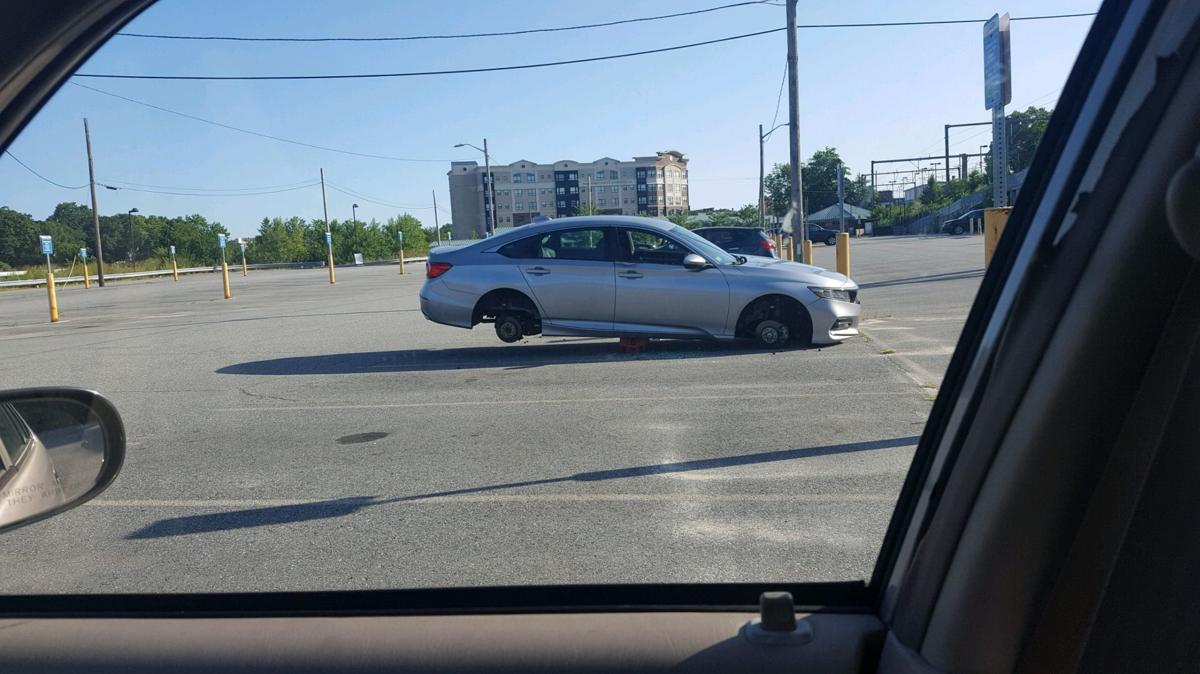 MBTA lot tires stolen