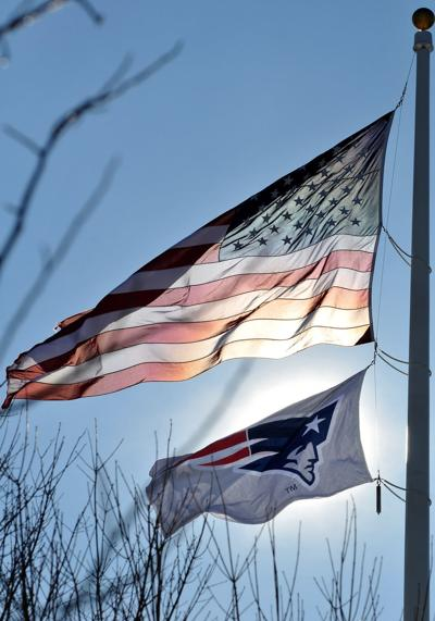 patriots flag on common