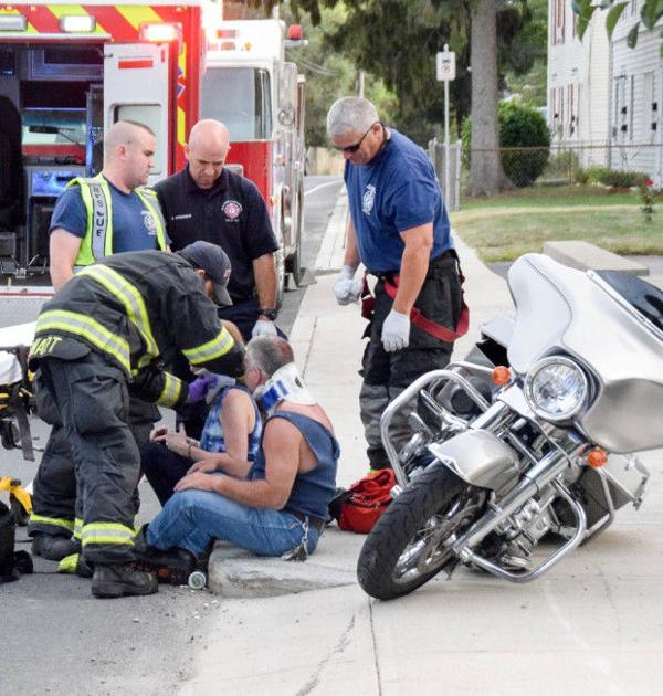 Motorcycle crash injures two in attleboro at sharp curve the sun