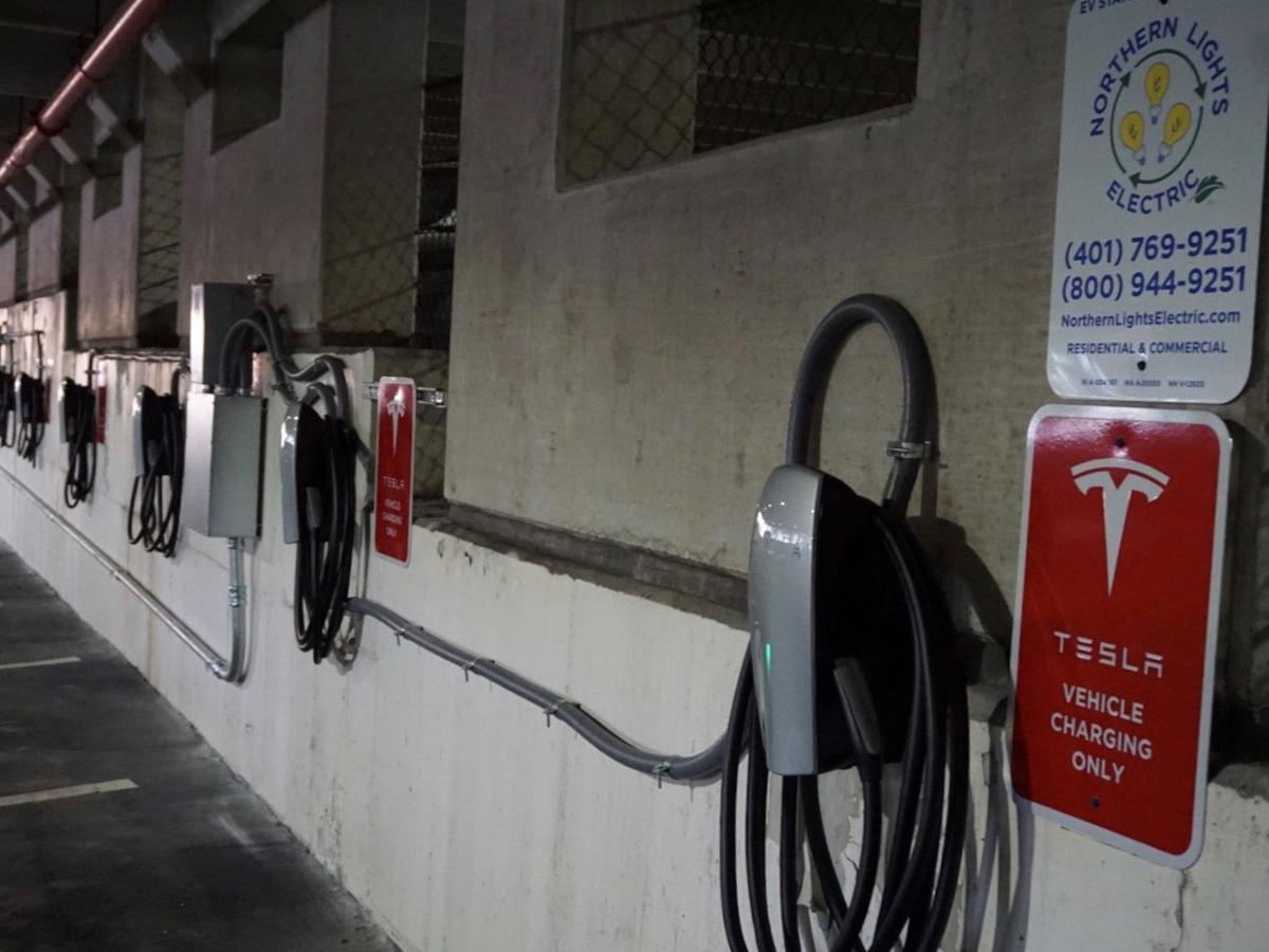 Tesla charging stations Northern Lights