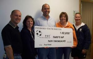 Foxboro Youth Soccer kicks in $10K to TurfsUp