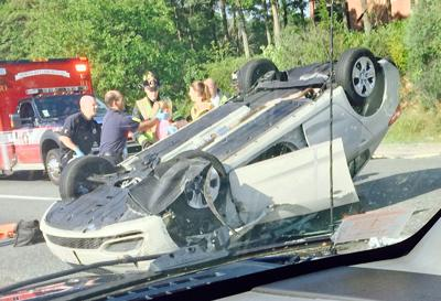 One injured in rollover on I-95 South in North Attleboro