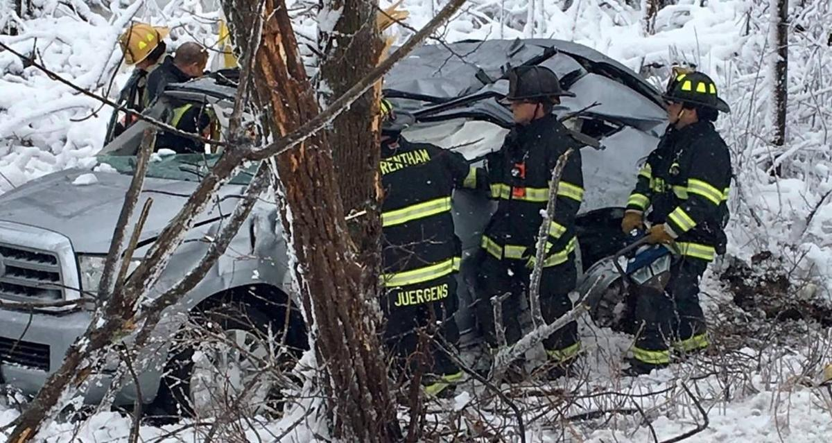 Wrentham firefighters rescue SUV driver trapped after I-495 crash