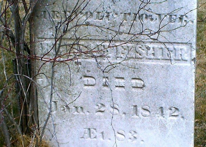 Elijah Fishers Grave Stone