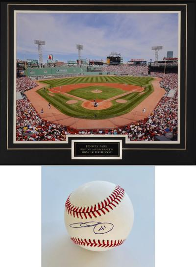 aam auction fenway photo and ball