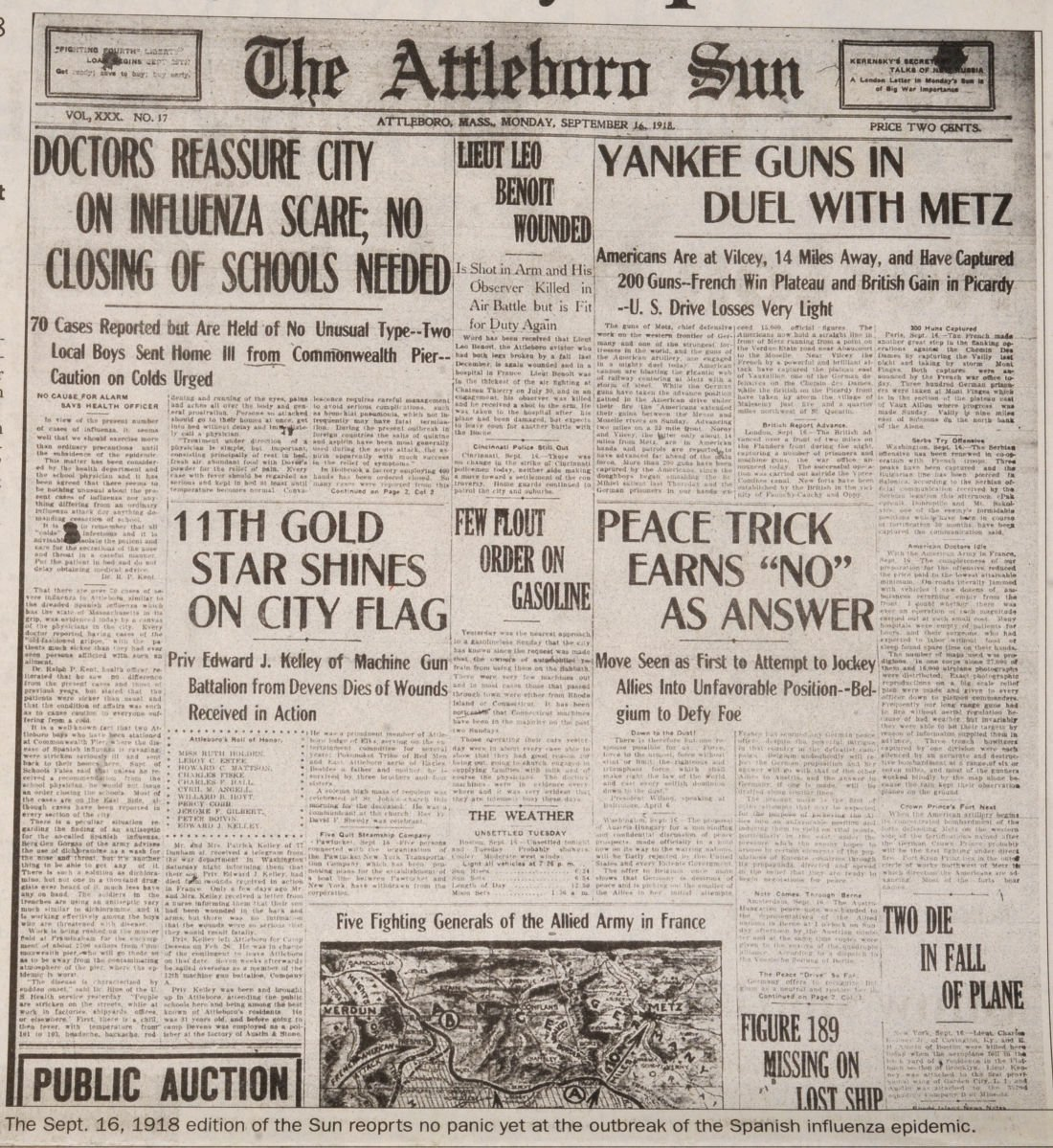 SC Historic Front Pages GN