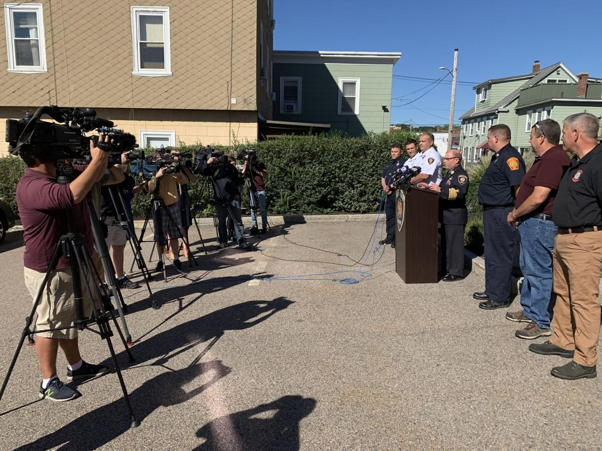North Attleboro firefighters at press conference