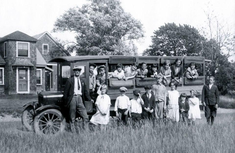 Bishop Street School Bus 1925