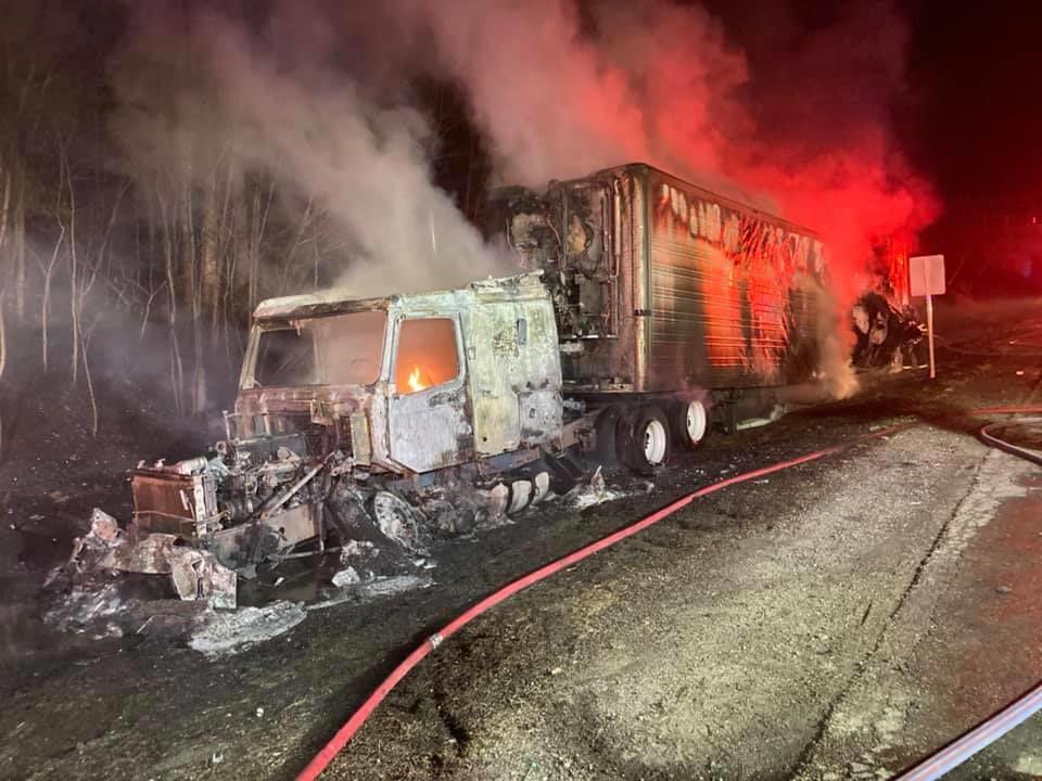 wrentham truck fire 2