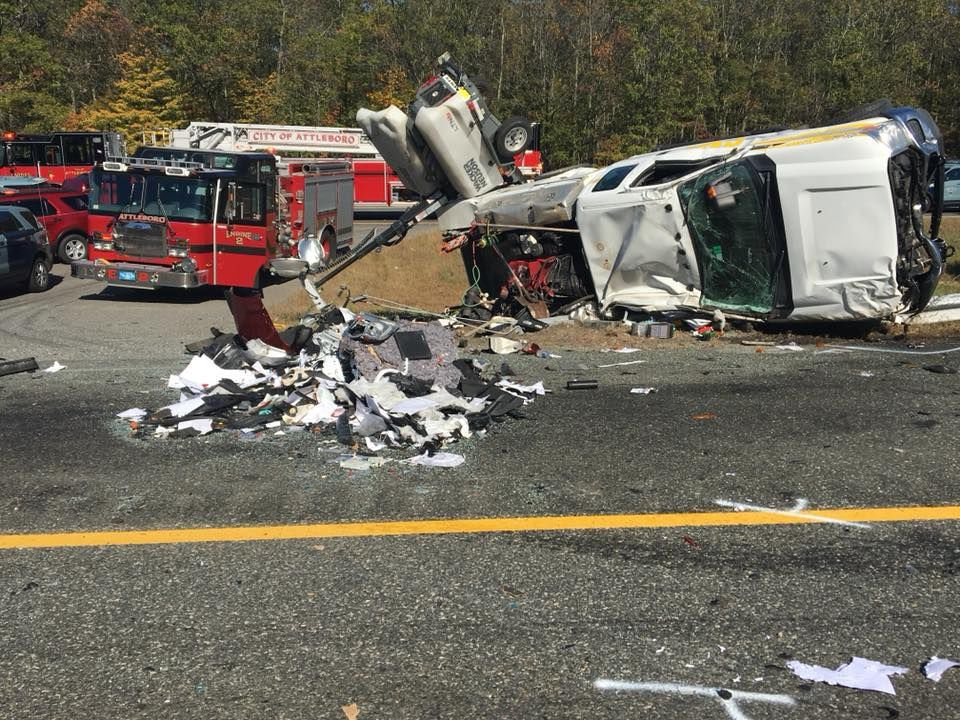 Three seriously hurt in one of three Attleboro highway crashes