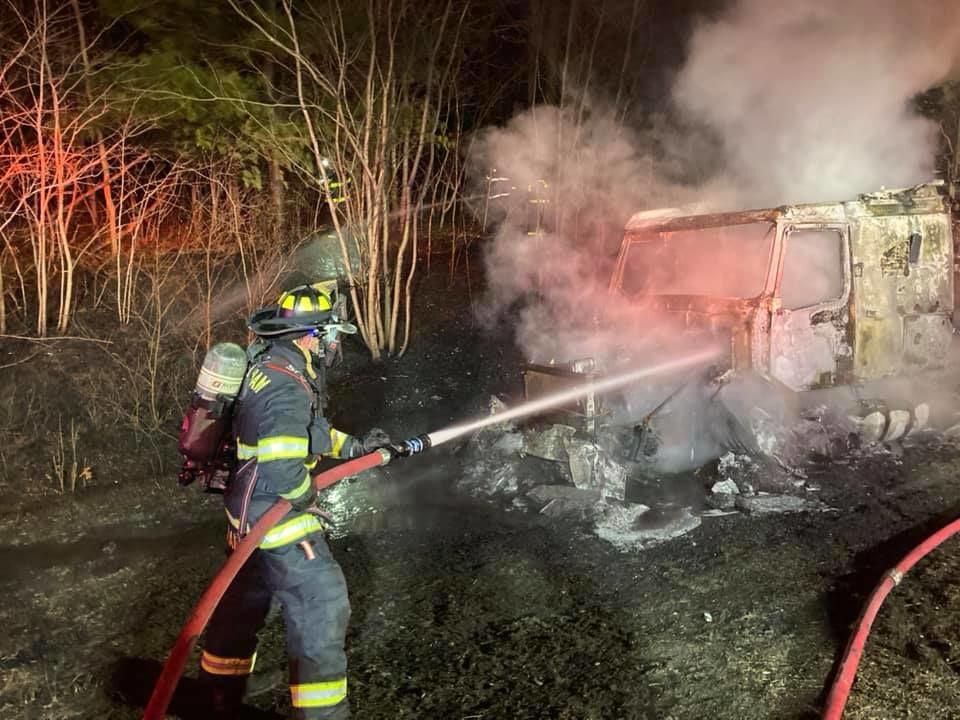 wrentham truck fire 3
