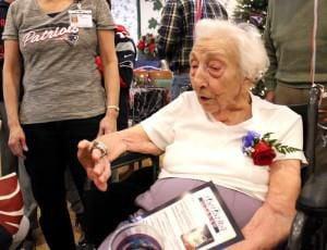Patriots throw a 100th birthday bash for super fan Jo Guenard