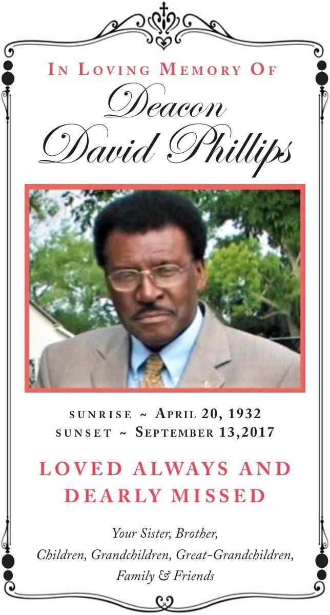 Deacon David Phillips Memorial