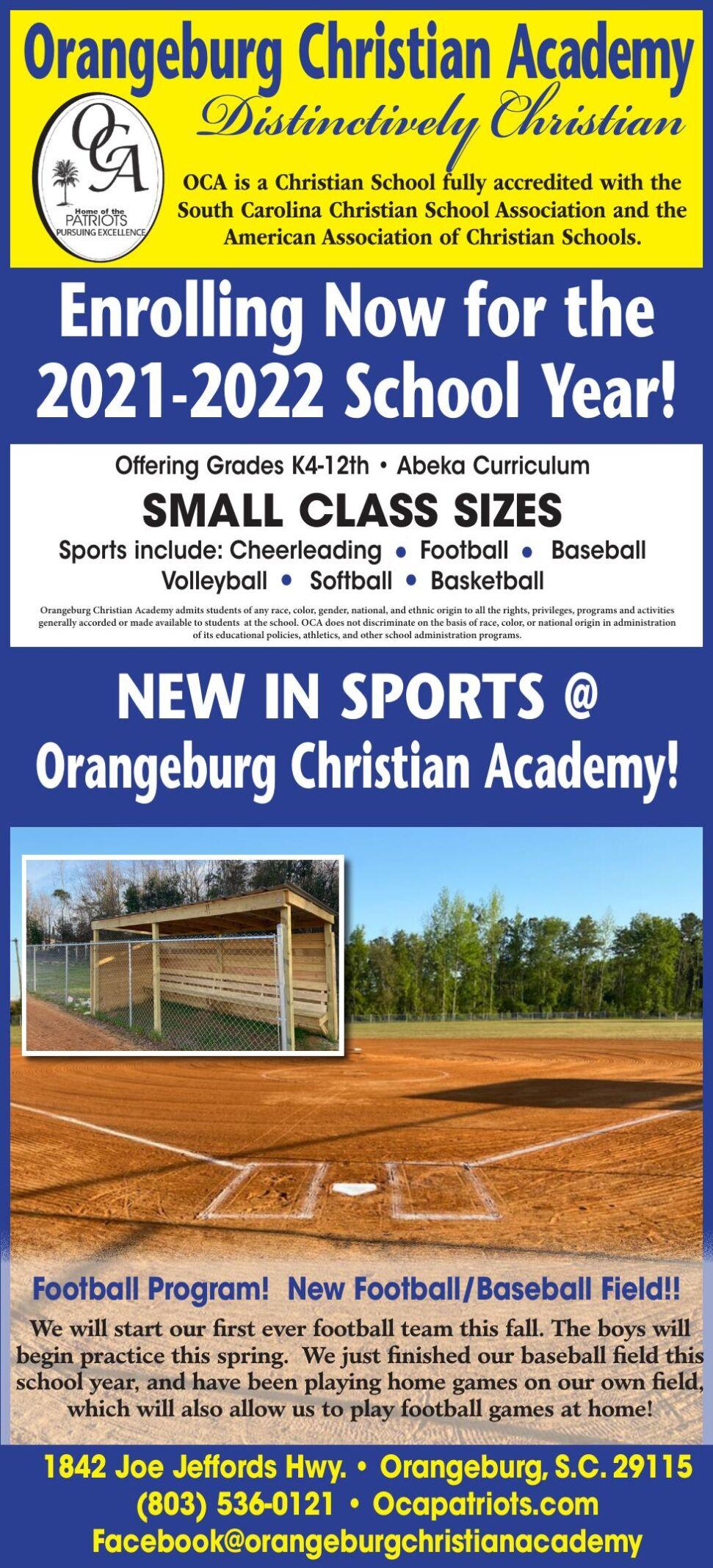 Orangeburg Christian Academy/FA