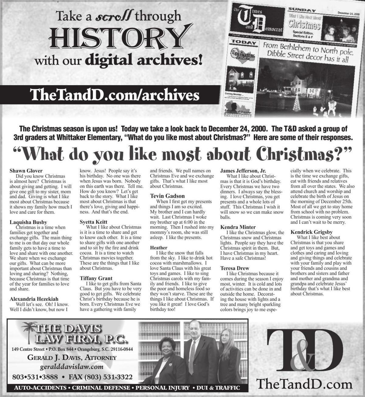 TheTandD.com/archives Dec. 1, 2000