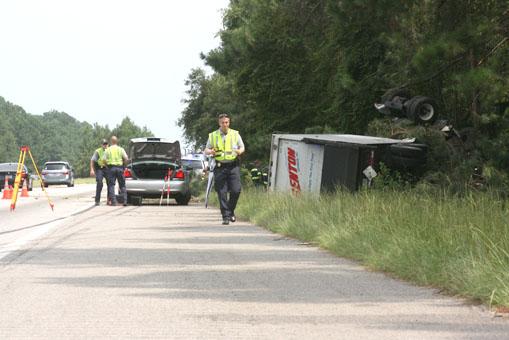 I-26 accident scene