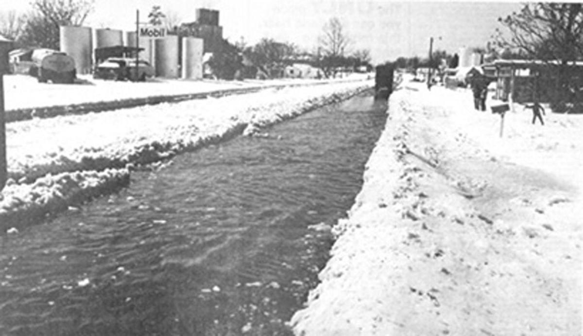 River of snow in 1973