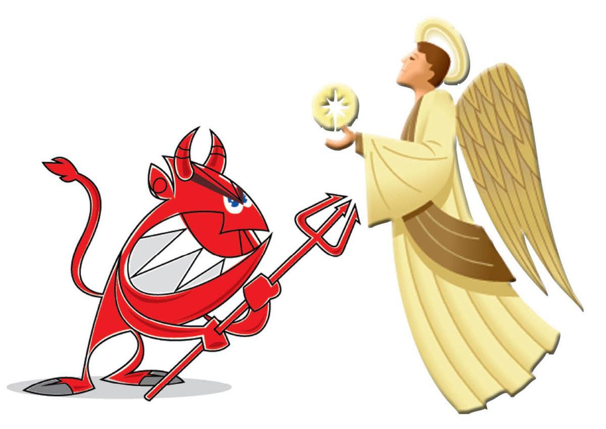Devil vs. angel