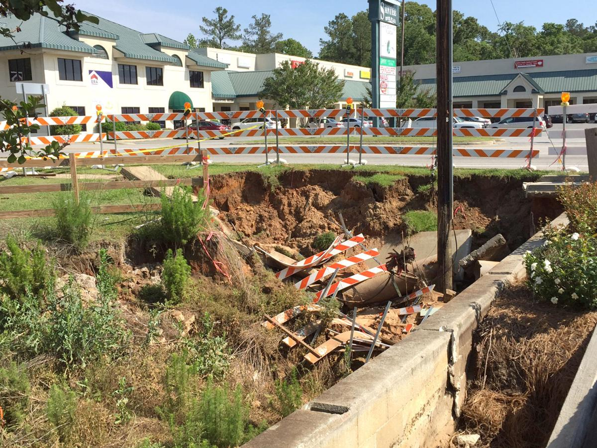 The Santee sinkhole in April.