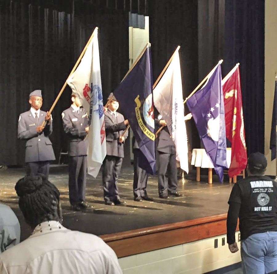 EHS cadets display flags