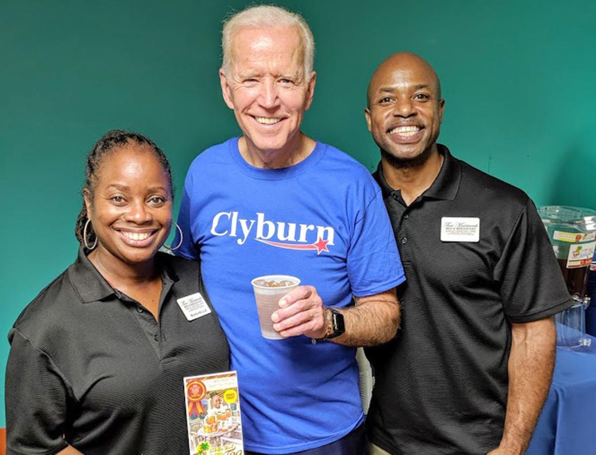 Biden tries the tea