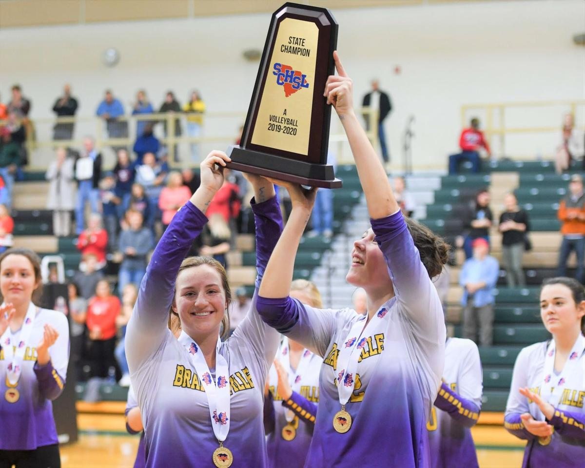 Branchville volleyball gets trophy
