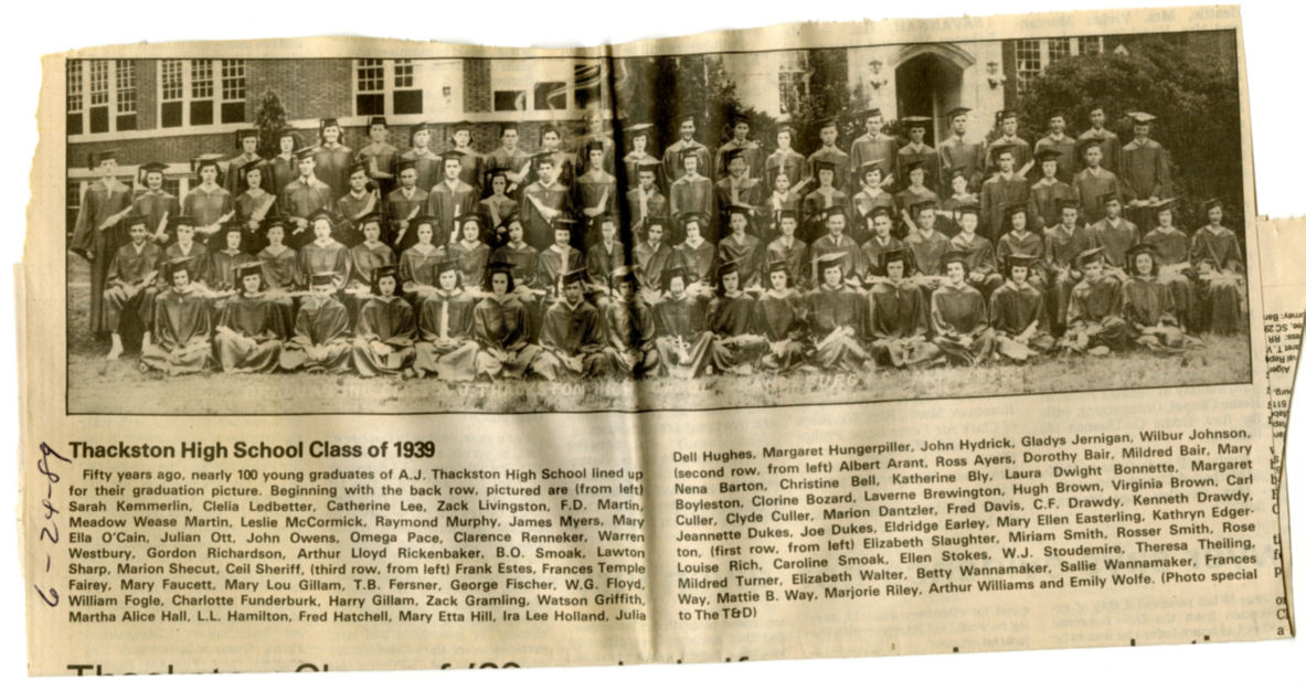 The Class of 1939