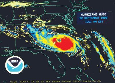 Hugo satellite image