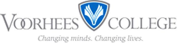 LIBRARY Voorhees College logo