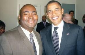 Jaime Harrison and Barack Obama