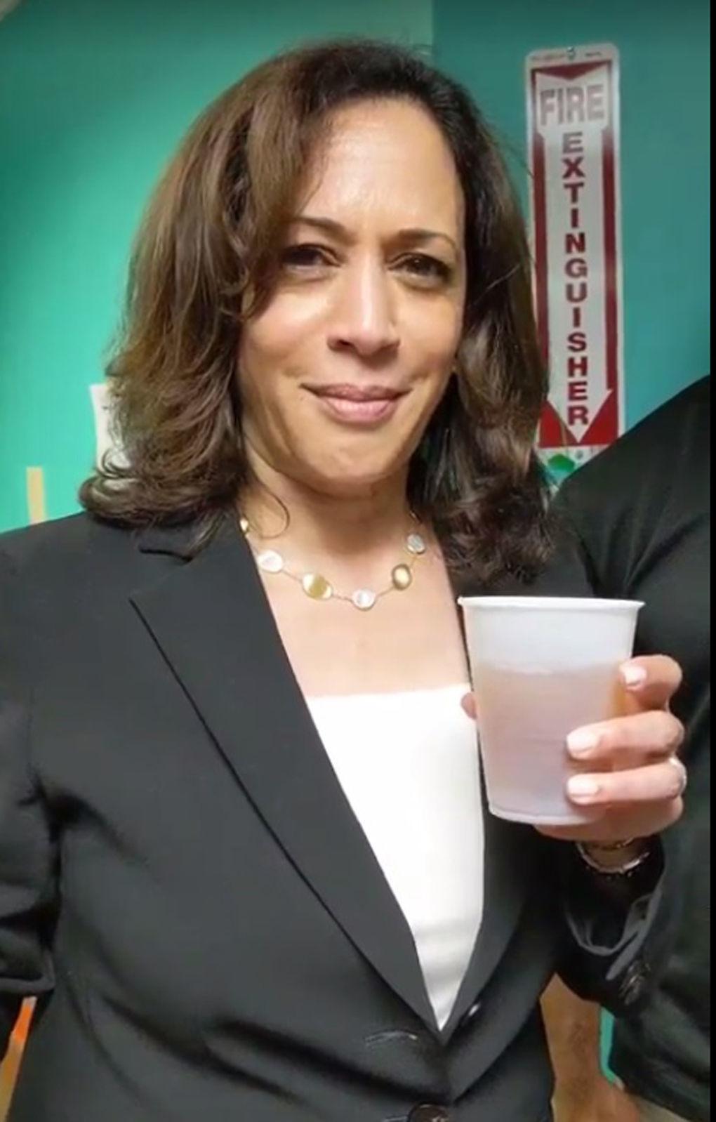 Harris tries the tea