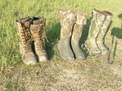 Rubber boots provide snake bite protection