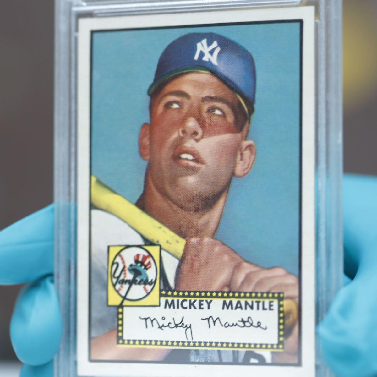 10m 1952 Mantle Card Goes On Display For 72 Hours Major